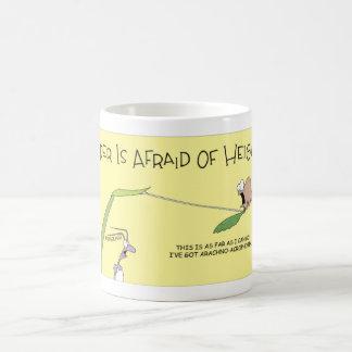 A spider phobia coffee mug