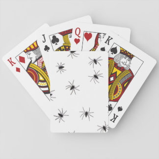 A Spiders flock (pattern) cartoon Playing Cards
