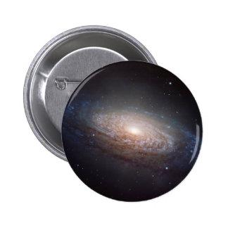 A spiral galaxy in Leo 6 Cm Round Badge