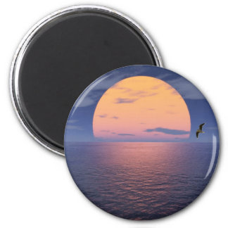 A Spiritual Place -Blue Sunset 6 Cm Round Magnet