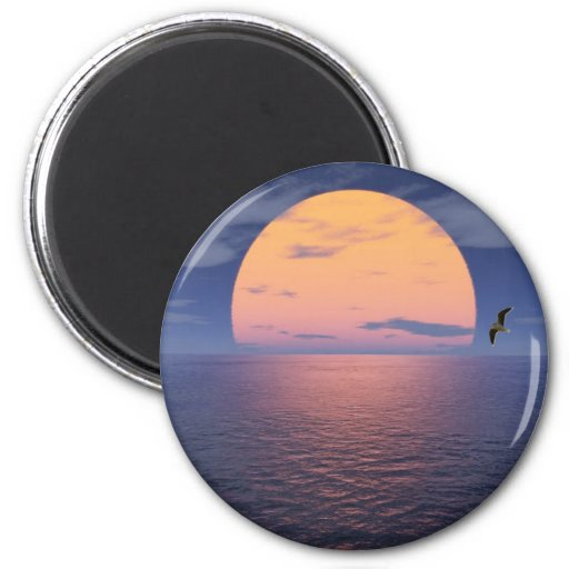 A Spiritual Place -Blue Sunset Refrigerator Magnet