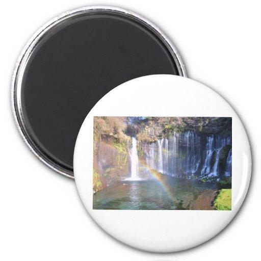 A Spiritual Place- Shiraito_water Fridge Magnets