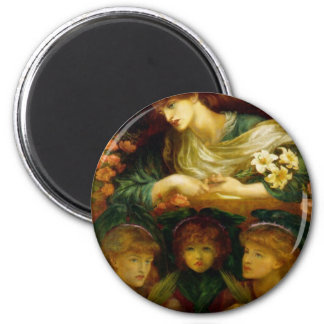 A Spiritual Place -The_Blessed_Damozel 6 Cm Round Magnet