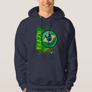A Splash of Brazil Smiling Flag Hoodie
