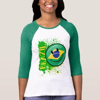 A Splash of Brazil Smiling Flag T-Shirt