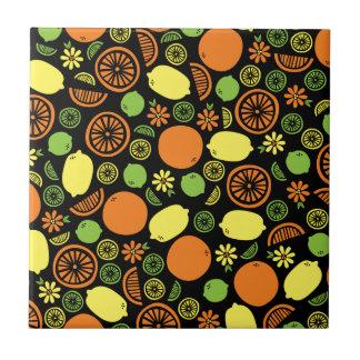 A Splash of Citrus Small Square Tile