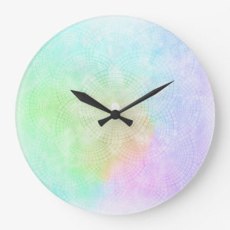 A Splash of Pastel Clock