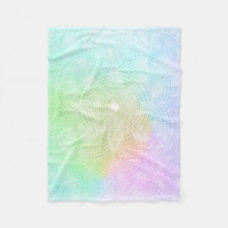 A Splash of Pastel Fleece Blanket