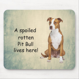 A Spoiled Rotten Pit Bull Lives here Mouse Pad