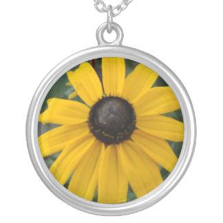 A spot of Sun Round Pendant Necklace