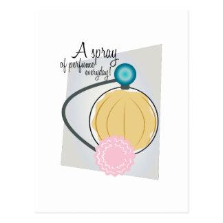 A Spray Of Perfume Everday! Postcard