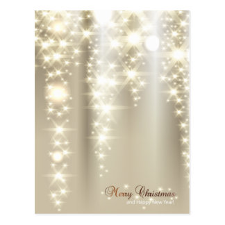 A Sprinkle of Gold and Silver at Christmas Postcard