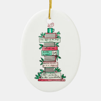 A Stack of Holiday Classics Ceramic Ornament
