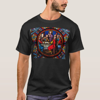 A stained glass image of the last supper T-Shirt