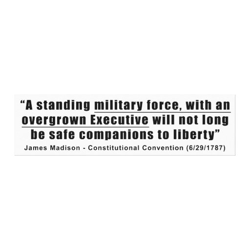A Standing Military Force an Overgrown Executive Canvas Prints