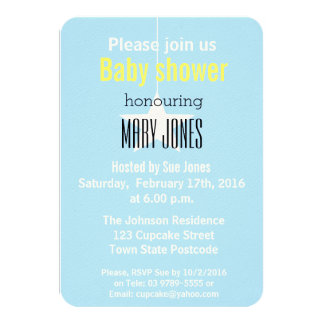 A Star is Born Baby Shower Invitation