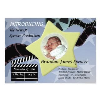 A Star is Born/ Blue 13 Cm X 18 Cm Invitation Card