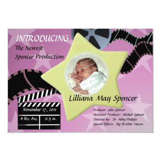 A Star is Born/ Pink 13 Cm X 18 Cm Invitation Card