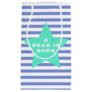 A star is born | Teal Star & Stripes Baby Gift Bag