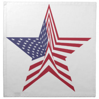 A Star With An American Flag Pattern Napkin
