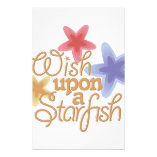 A Starfish Personalized Stationery