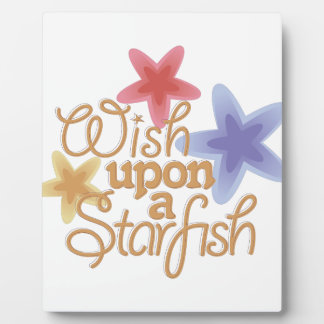 A Starfish Plaque