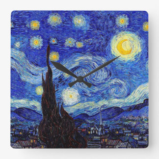 A Starry Night  Inspired Wall Clocks
