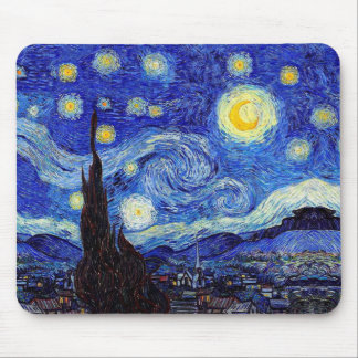 A Starry Night  Van Gogh Inspired Mousepad