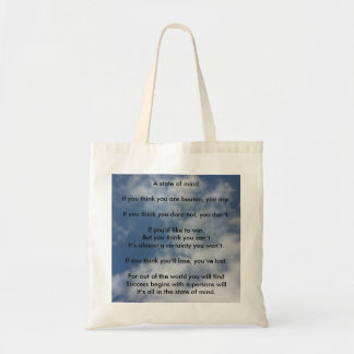 A State of Mind Budget Tote Bag