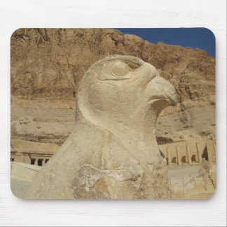 A statue of Horus as a falcon at Hatshepsut temple Mousepad