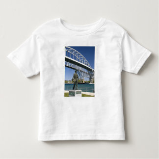 A statue of Thomas Edison by local artist Mino Toddler T-Shirt