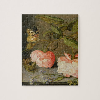 A Still Life with Roses on a Ledge Jigsaw Puzzle