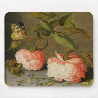 A Still Life with Roses on a Ledge Mouse Pad