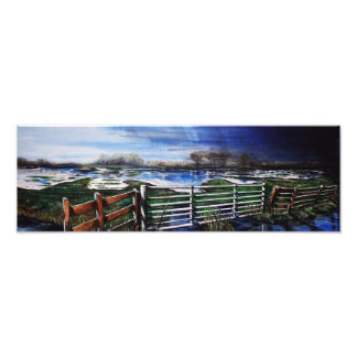 A storm approaches over the Somerset levels Photographic Print