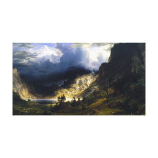 A Storm In The Rocky Mountains Canvas Print