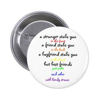 a stranger 6 cm round badge