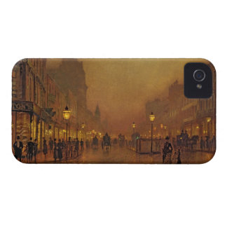 A Street at Night (oil on panel) iPhone 4 Cover