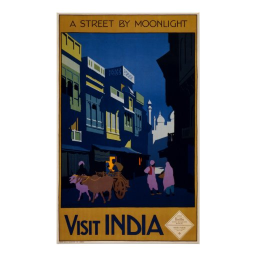 A Street by Moonlight Posters