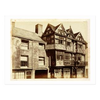 A Street in Ludlow (b/w photo) Postcard