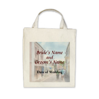 A Street in St. George Bermuda  Wedding Products Bags