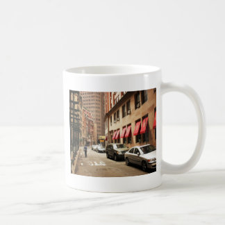 A Street Scene in the Financial District Classic White Coffee Mug