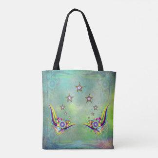 A Striking aquamarine abstract Tote Bag