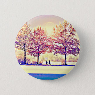 A stroll in the woods 6 cm round badge