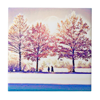 A stroll in the woods ceramic tile