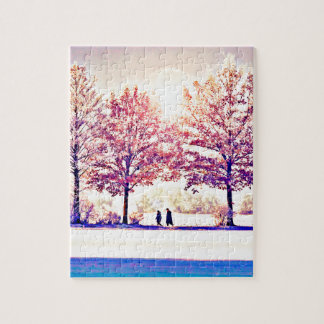 A stroll in the woods jigsaw puzzle