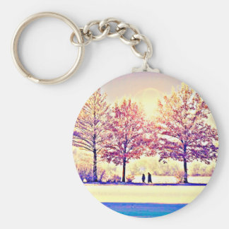 A stroll in the woods key ring