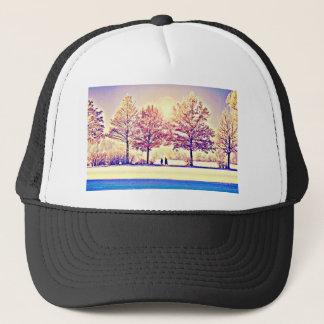 A stroll in the woods trucker hat