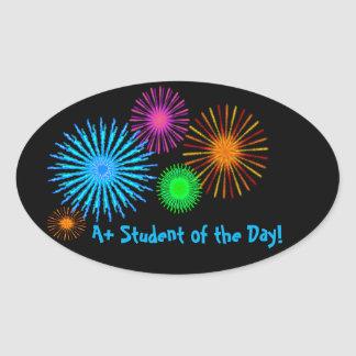 A+ Student of the Day! Oval Sticker