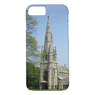 A stunning church with spire on a spring day. iPhone 8/7 case