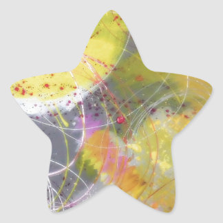 A Stunning Unique Abstract Design Star Sticker